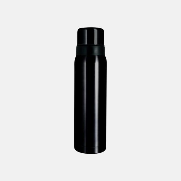Svart högblank 1 liter termos från Vildmark