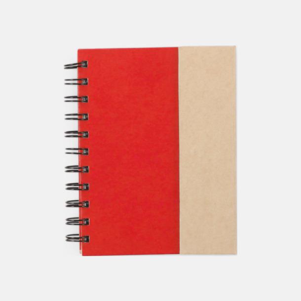 Röd Anteckningsblock och notisblock med markeringslappar