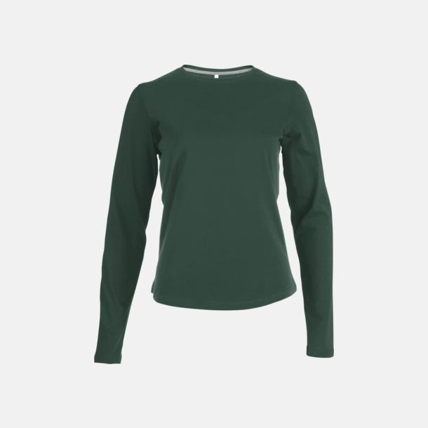 Forest Green (crewneck, dam) Långärmad t-tröja med rundhals för herr och dam med reklamtryck