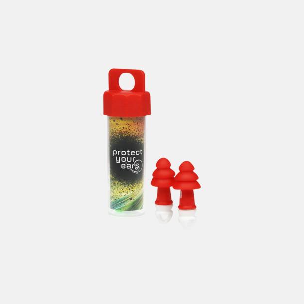 Röd Öronproppar med reklamtryck