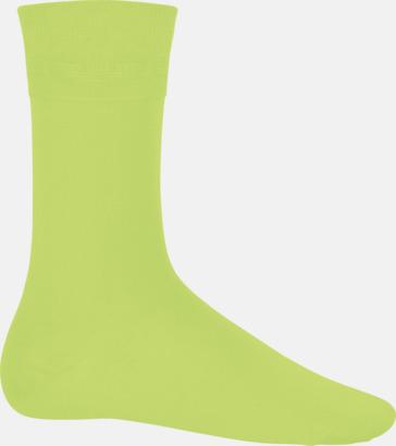 Limegrön Bomullsstrumpor i många färger med reklamtryck