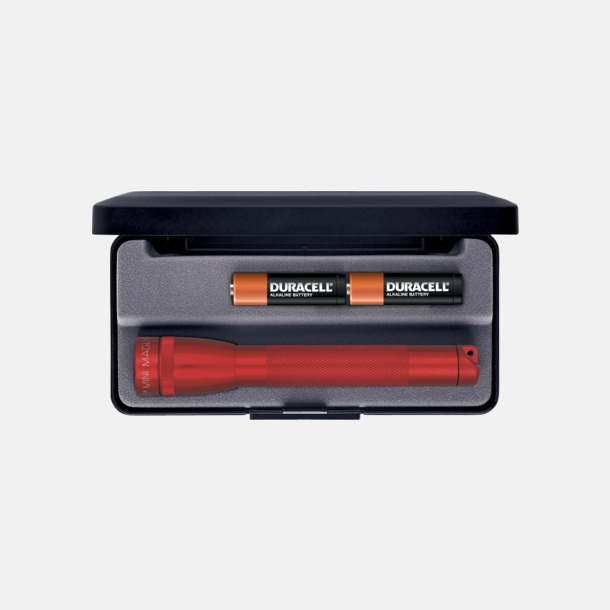 Röd Maglites Mini LED AA med reklamlogga