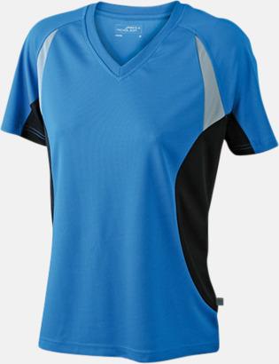 Royal/Svart/Reflex Flerfärgade funktionströjor med eget tryck