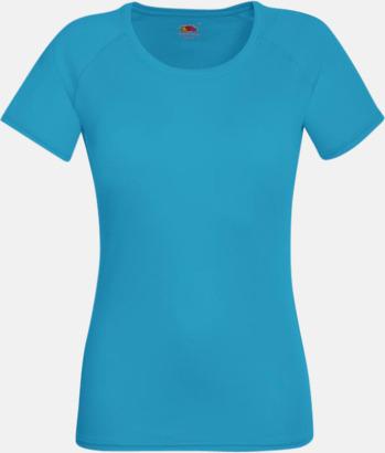 Azure Blue (dam) Funktionströjor för herr, dam och barn - med reklamtryck