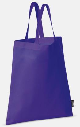 Lila (korta handtag) Billiga kassar med korta eller långa handtag - med reklamtryck