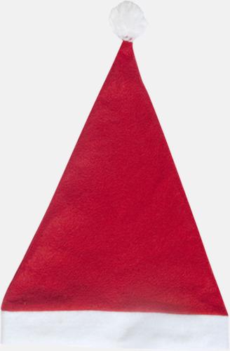 Röd Tomteluvor i många färger med reklamtryck