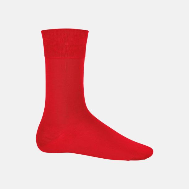 Röd Bomullsstrumpor i många färger med reklamtryck