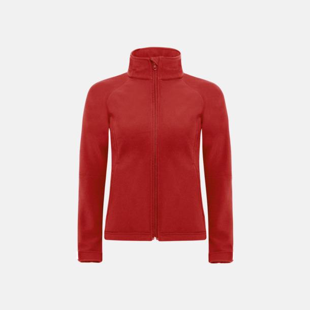 Röd (dam) Softshell-jackor för vuxna och barn - med reklamtryck