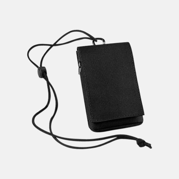 Svart Mobilfodral & plånbok med reklamlogo