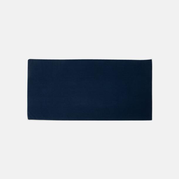Marinblå (badhandduk) Microfiber handdukar i 3 storlekar med reklambrodyr