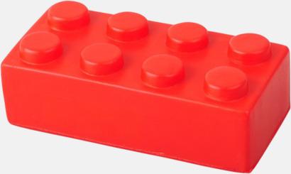 Röd Blockformade stressbollar med reklamtryck
