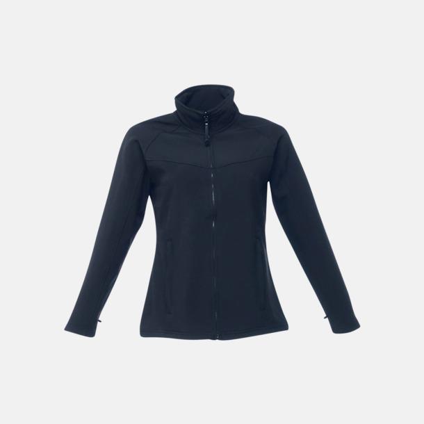 Marinblå (dam) Soft-shell jackor i herr- & dammodell med reklamtryck