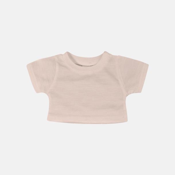 Baby Pink Enfärgade t-shirts för gosedjur - med reklamtryck