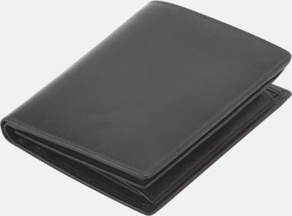 Svart Kvalitetsplånböcker i läder med reklamtryck