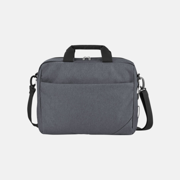 """Grå / Svart Väskor för 14""""-laptops - med reklamtryck"""