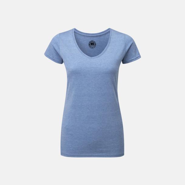 Blue Marl (v-neck dam) Färgstarka t-shirts i herr- och dammodell med reklamtryck