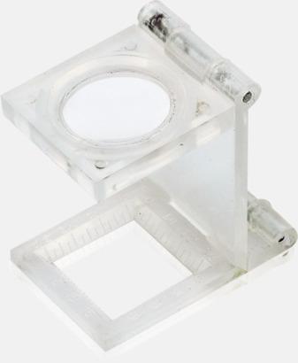 Vikbara förstoringsglas med reklamtryck
