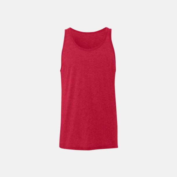 Red Triblend (heather) Bomullslinnen i unisexmodell med reklamtryck