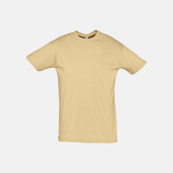 Sand Billiga unisex t-shirts i många färger med reklamtryck