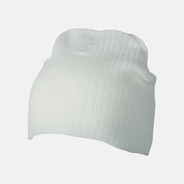 Off-White Ribbstickad mössa i flera olika fäger