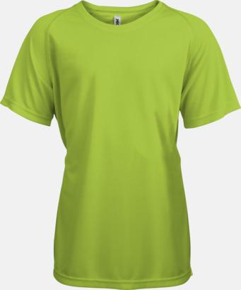 Lime Funktions t-shirts i många färger för barn - med reklamtryck