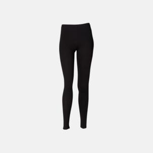Svarta leggings i två längder med reklamtryck
