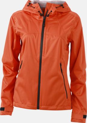 Dark Orange/Iron Grey (dam) Trekkingjackor i herr- & dammodell med reklamtryck