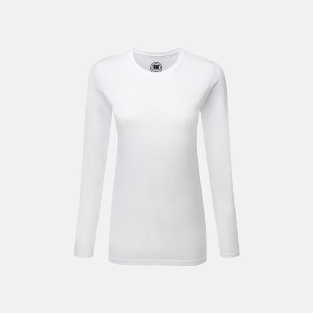 Vit (dam) Långärms t-shirts i herr-, dam och barnmodell med sublimering