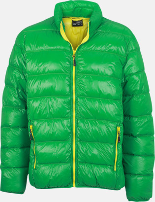 Grön/gul (herr) Herr- och damdunjackor med tryck