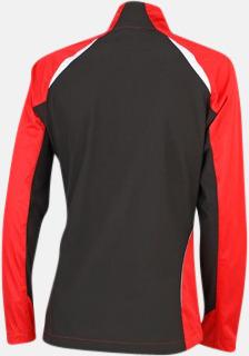 Röd/Svart (rygg) Vindtäta jackor med eget tryck