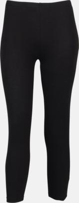 3/4 Svarta leggings i två längder med reklamtryck