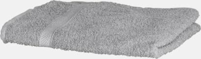 Grå (solid) Exklusiva handdukar med egen brodyr