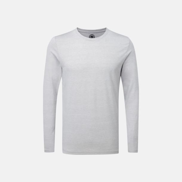 Silver Marl (herr) Färgstarka långärms t-shirts i herr-, dam och barnmodell