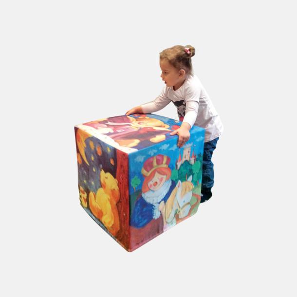 Kubformade saccosäckar i 10-set med reklamtryck