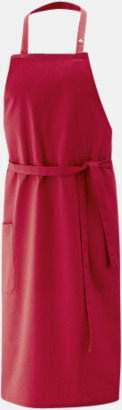 Röd (bib 100 x 80 cm) Förkläden i 5 varianter med reklamtryck