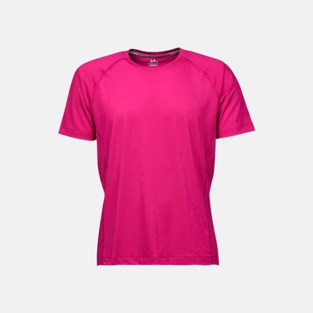 Bright Fuchsia (herr) Funktions t-shirts i herr- & dammodell med reklamtryck