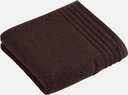 Mörkbrun Handdukar i 3 storlekar med reklambrodyr