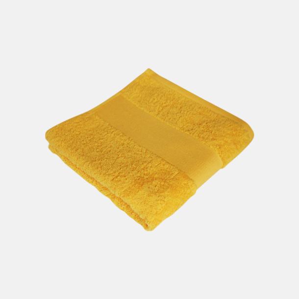 Brilliant Yellow Billiga handdukshandskar med brodyr