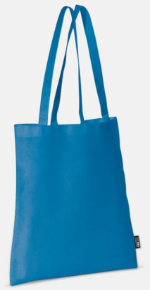 Blå (långa handtag) Billiga kassar med korta eller långa handtag - med reklamtryck