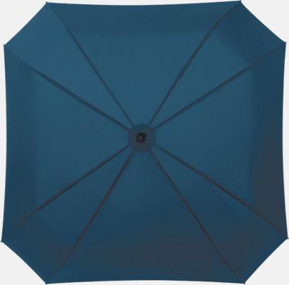 Marinblå Fyrkantiga kompaktparaplyer med eget tryck