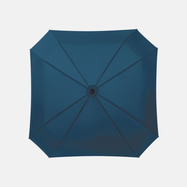 Marinblå Fyrkantiga kompaktparaplyer med eget reklamtryck