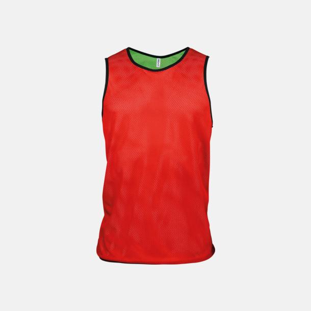 Sporty Red/Fluorescerande Grön Vändbara lagvästar med reklamtryck