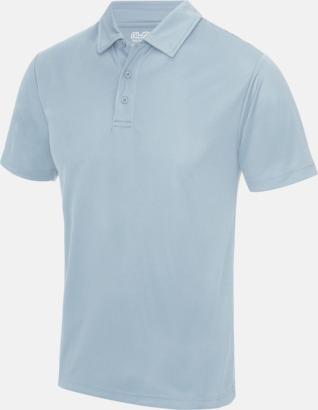 Sky Blue Färgglada pikétröjor med reklamtryck