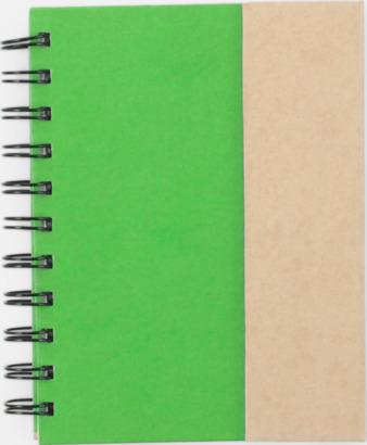 Grön Anteckningsblock och notisblock med markeringslappar