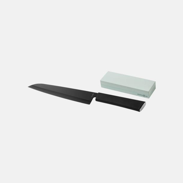 Kockkniv & slipsten med reklamlogo