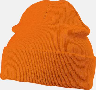 Orange Mössor med brodyr