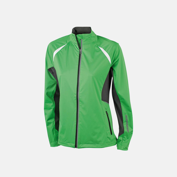 Grön/Carbon Vindtäta jackor med eget tryck