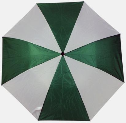 Grön/Vit (2) Kompaktparaply i många färgalternativ