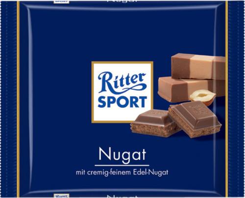 Nougat 100 gram-Ritter Sport choklad med reklamtryck