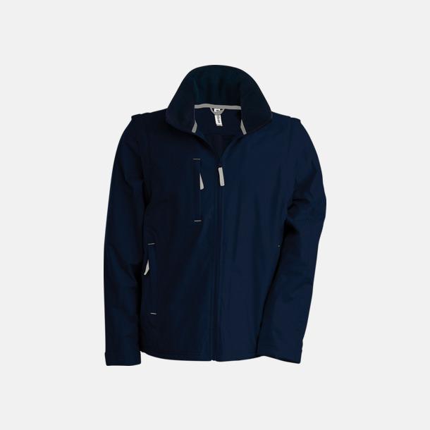 Marinblå/Grå (solid) Jacka med avtagbara ärmar - med reklamtryck